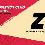 Film & Politics Club - Sept. 19th